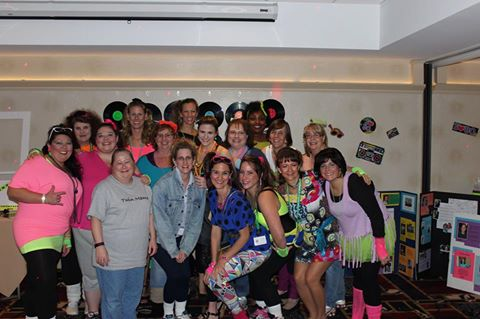 Convention 2015 group 80s party